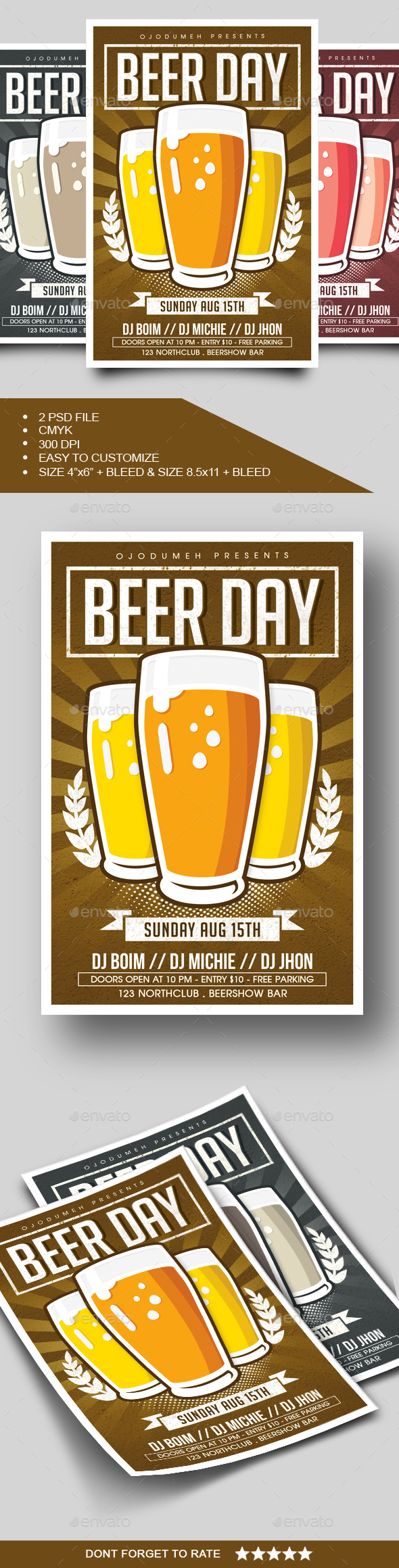 GraphicRiver Beer Day Flyer 20384377
