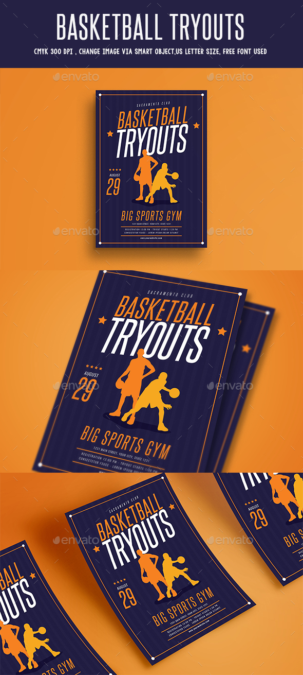 GraphicRiver Basketball Tryouts Flyer 20384382