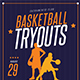 Basketball Tryouts Flyer - GraphicRiver Item for Sale