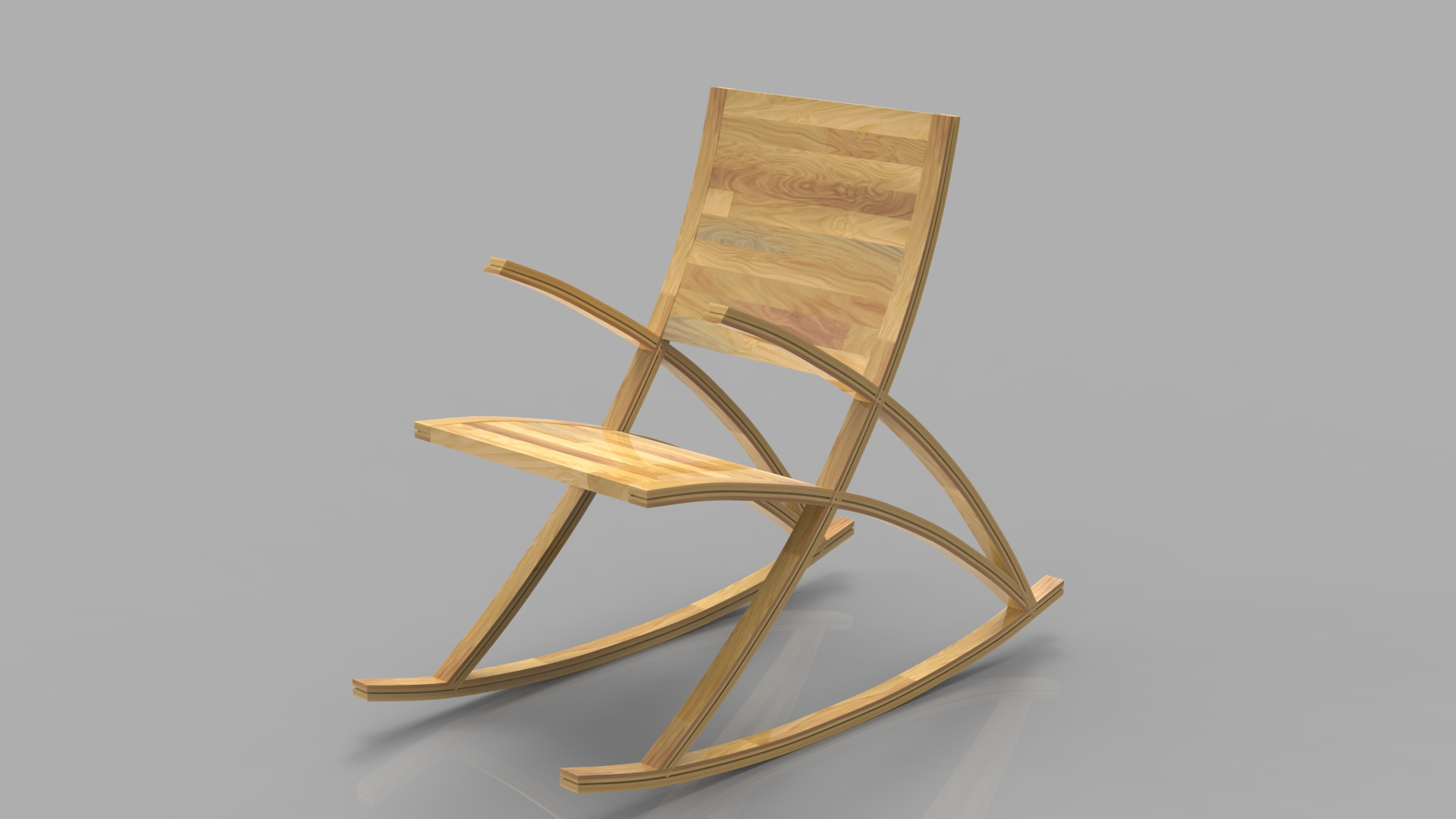 Rocking Wooden Chair Collection by 3DElement