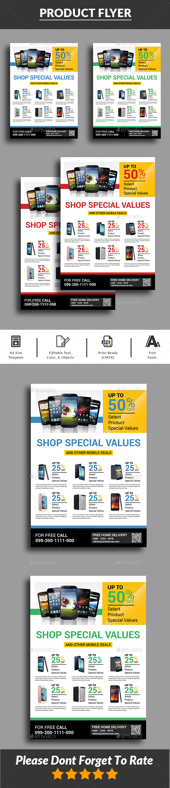 Mobile Sale Flyer - Commerce Flyers