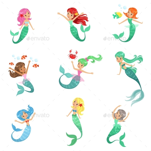 Fairy Tale Mermaid Princess - Animals Characters