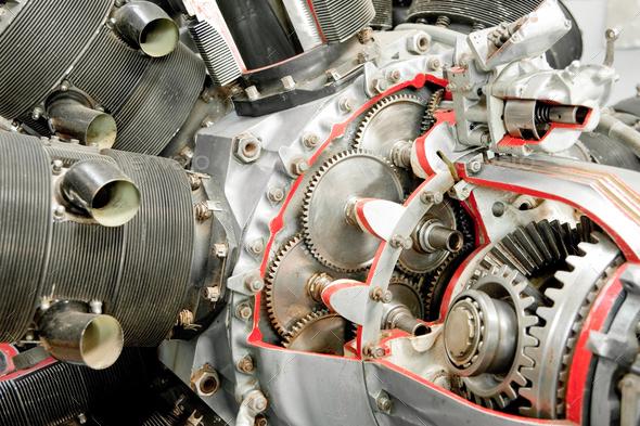 vintage aircraft engine