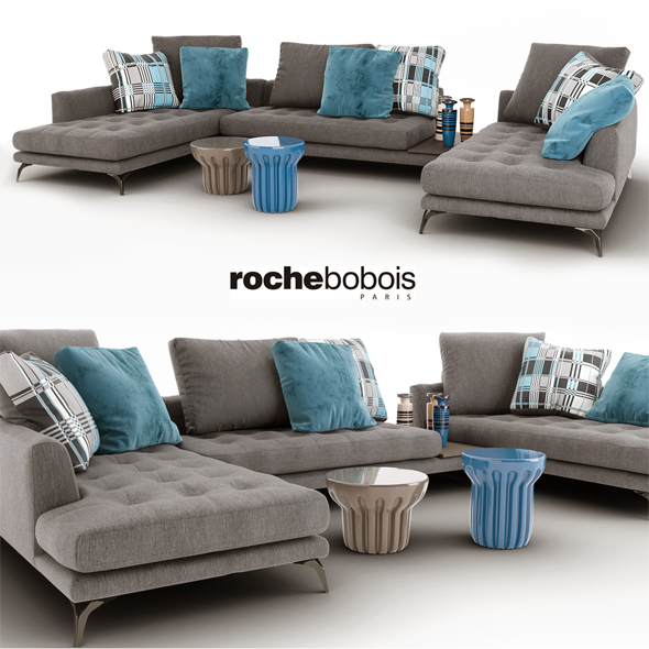 sofa symbole composition roche bobois by dianaloveart 3docean. Black Bedroom Furniture Sets. Home Design Ideas