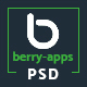 Berry Apps - Mobile App Landing Page - PSD Template