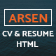 ARSEN - CV/RESUME - HTML Template - ThemeForest Item for Sale