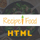 Recipe & Food - Bootstrap Template