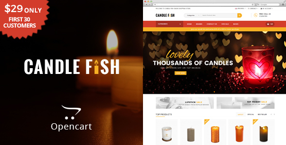 Image of Candle Fish - Multipurpose OpenCart Theme