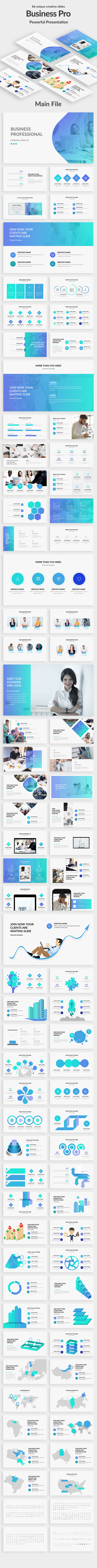 Business Professional Google Slide Template - Google Slides Presentation Templates
