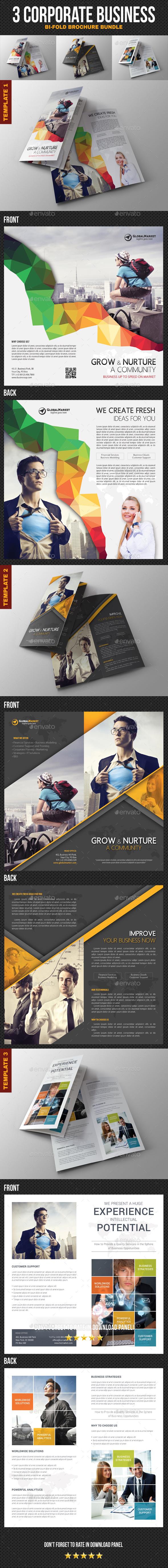 3 Corporate Business Brochure Bundle - Corporate Brochures