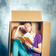 Introvert concept. Man sitting inside box and reading book - PhotoDune Item for Sale