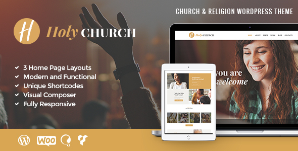 Holy Church | Religion & Nonprofit Theme WordPress Theme - Churches Nonprofit