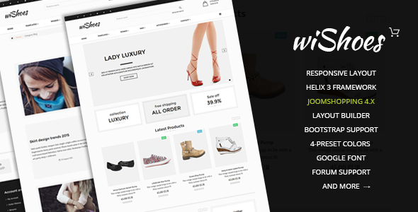 Image of wiShoes-Multipurpose Joomla eCommerce Template