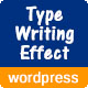 Advanced Typing Effect Wordpress Plugin
