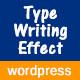 Advanced Typing Effect Wordpress Plugin - CodeCanyon Item for Sale