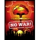 Vintage No War Vector Poster with Explosion