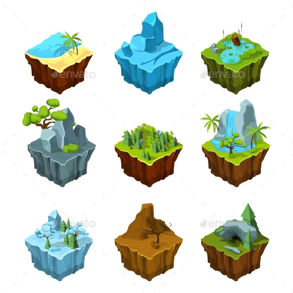 GraphicRiver Rock Fantasy Islands for Computer Games 20385748