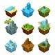 Rock Fantasy Islands for Computer Games