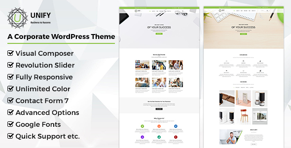 Unify- Corporate WordPress Theme - Corporate WordPress