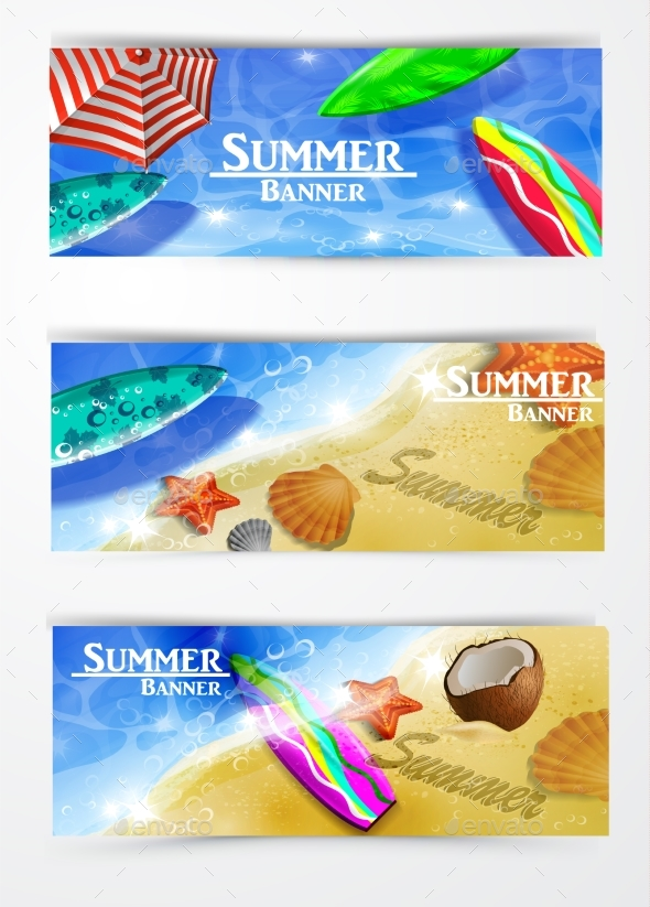 GraphicRiver Colorful Umbrella Swimming Pool 20385924