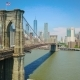 Aerial Drone View of Brooklyn Bridge and the Hudson River - VideoHive Item for Sale