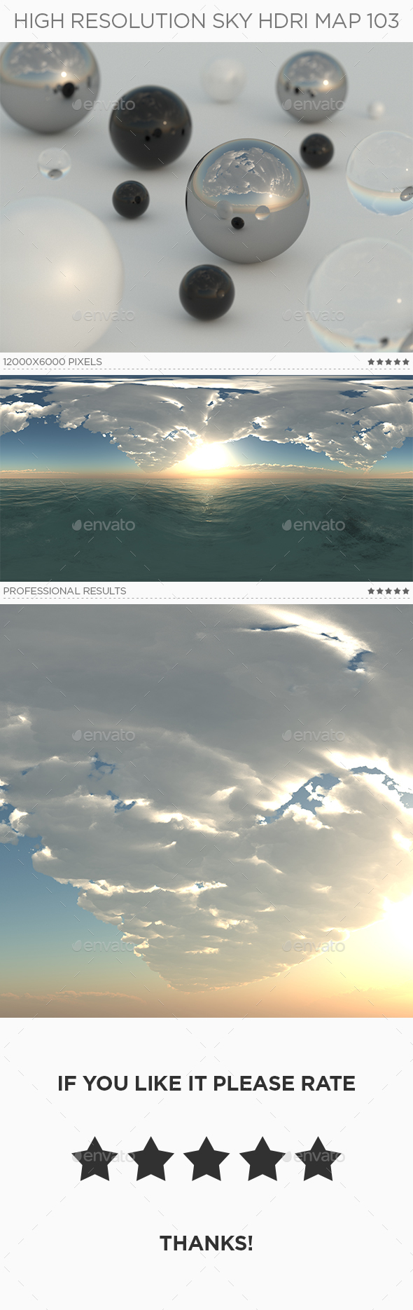 High Resolution Sky HDRi Map 103 - 3DOcean Item for Sale