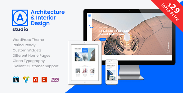 ThemeForest A.Studio Interior Design and Architecture Theme 20371785