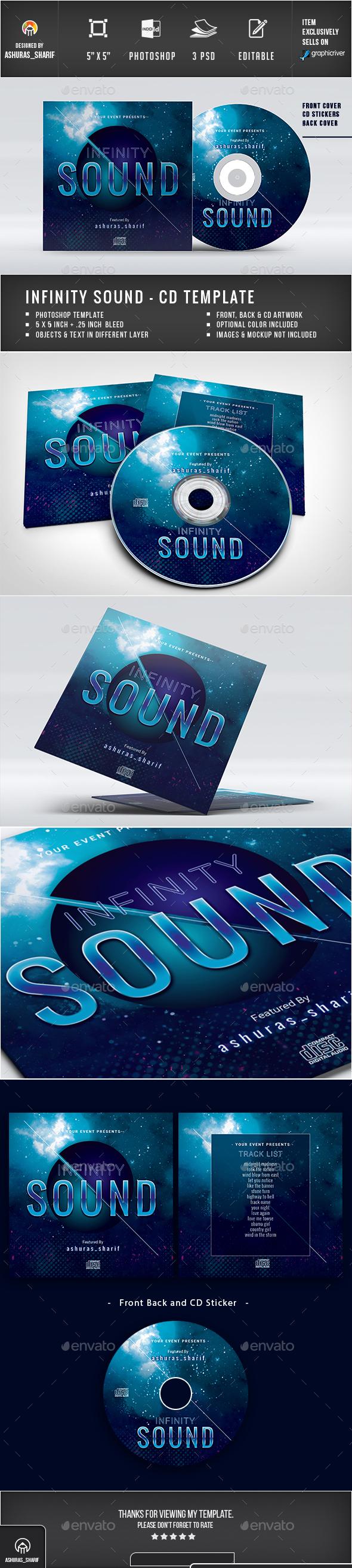 CD Cover - CD & DVD Artwork Print Templates