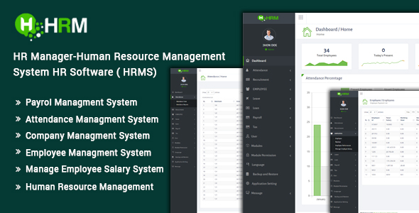 CodeCanyon HR Manager Human Resource Management System HR Software HRMS 20386502
