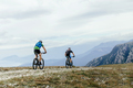 Two Men Cyclists on Mountainbike