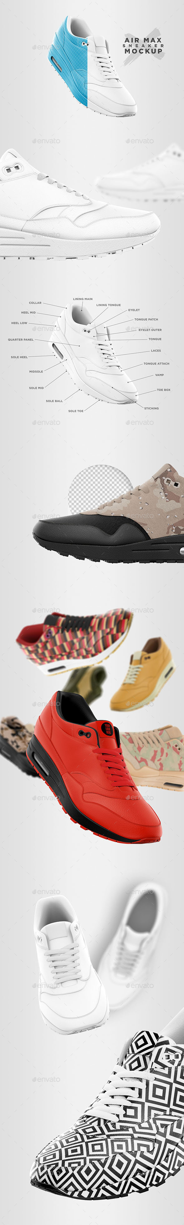 Air Max - Sneaker Mockup - Apparel Product Mock-Ups