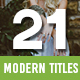 21 Modern Titles - VideoHive Item for Sale