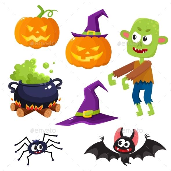 GraphicRiver Halloween Set 20386736