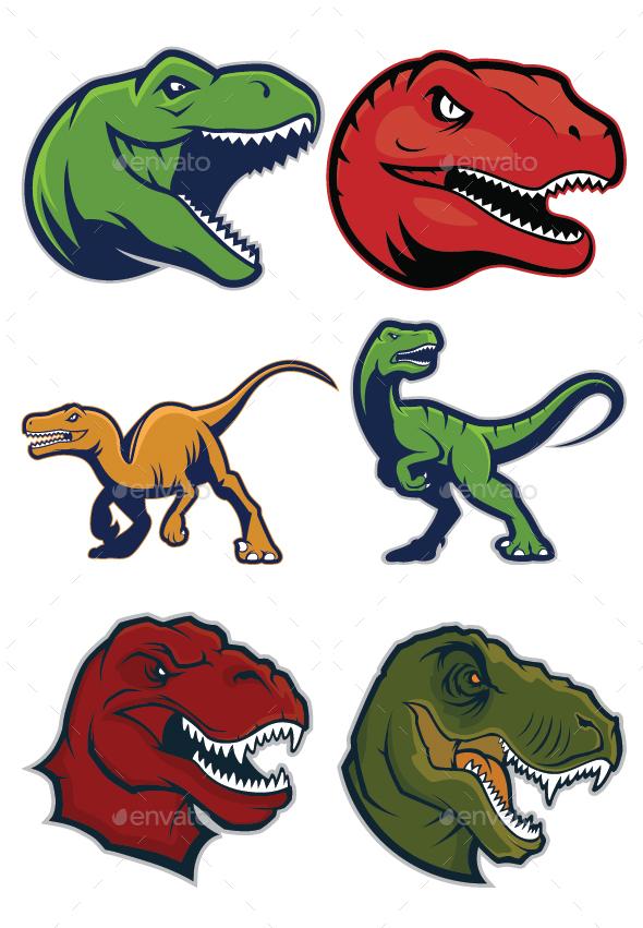 GraphicRiver Raptor Mascot Logo 20386791