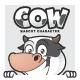 Cow Mascot Character