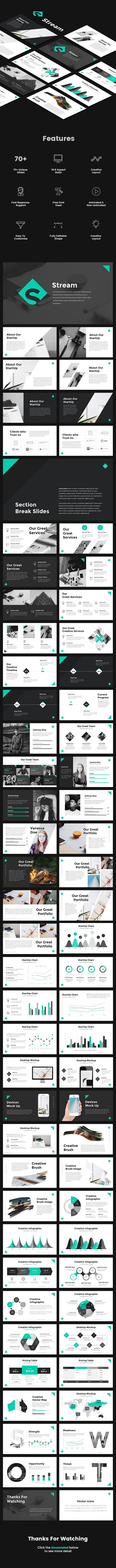 Stream - StartUp Pitch Deck PowerPoint Template - Pitch Deck PowerPoint Templates