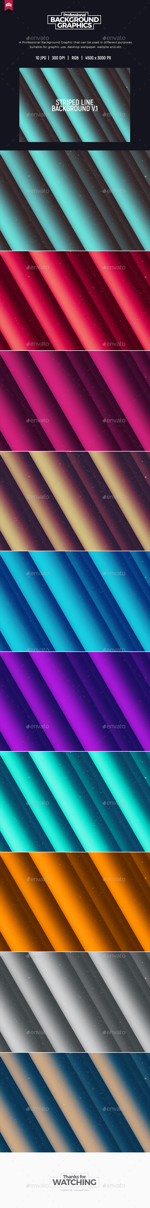 Striped Line Background V.1 - Abstract Backgrounds