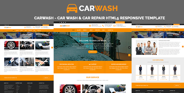 Image of CarWash - Car Wash & Car Repair HTML5 Responsive Template