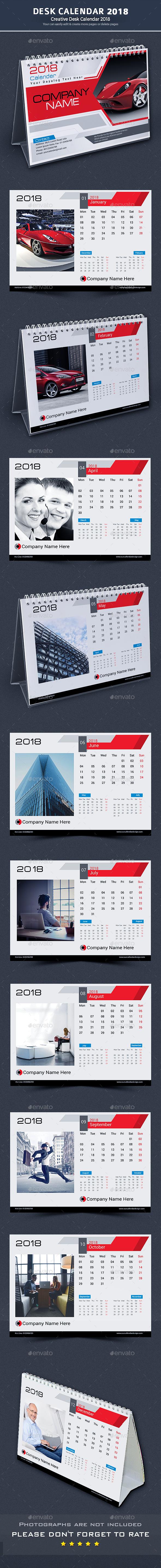 GraphicRiver Desk Calendar 2018 20387146