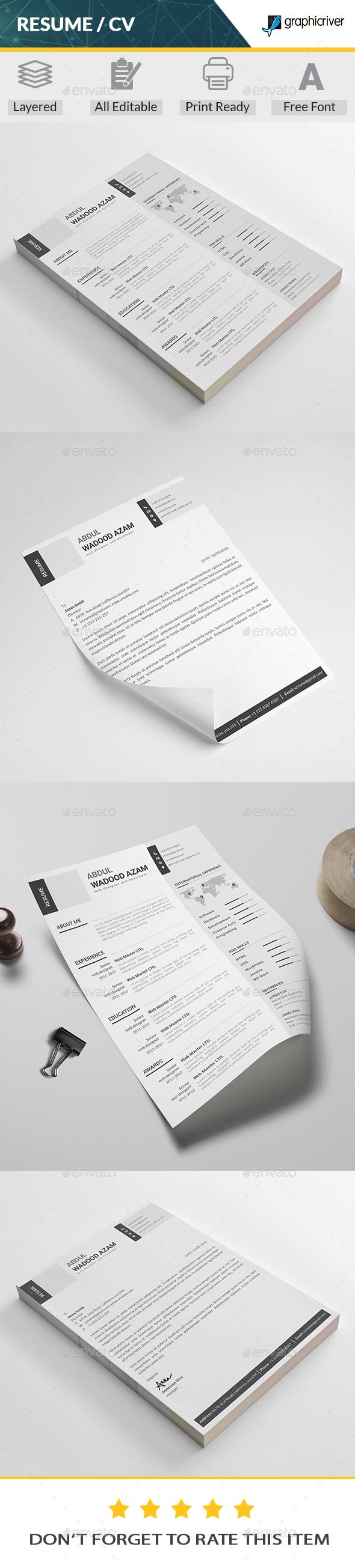 GraphicRiver Resume 20387172