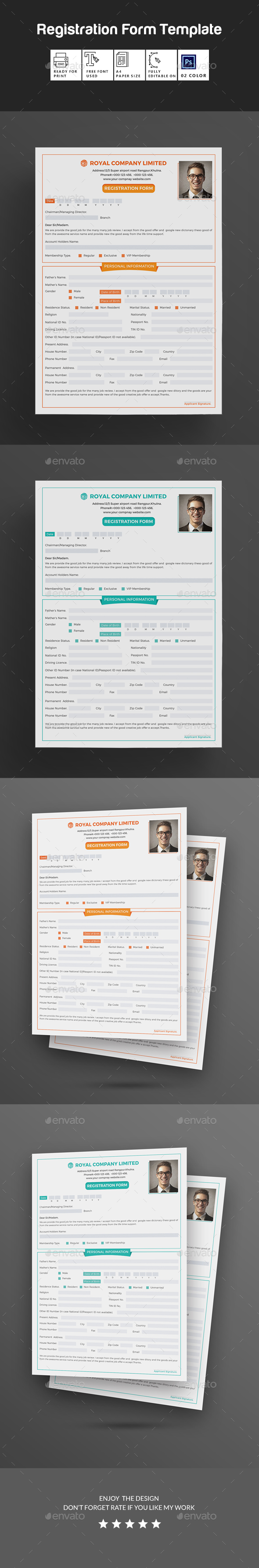 GraphicRiver Registration Form 20387376
