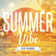Summer Vibe - PSD Flyer Template - GraphicRiver Item for Sale