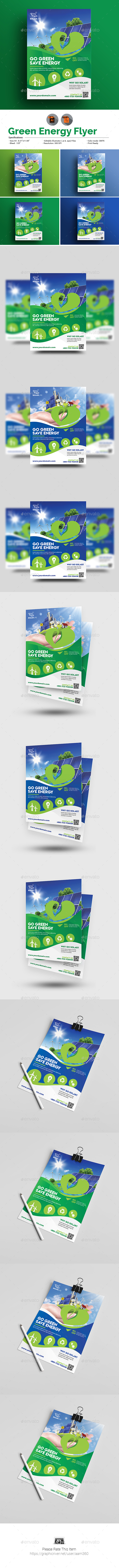 GraphicRiver Green Energy Flyer 20387929