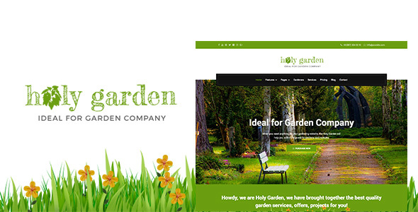 Holy Garden | Landscaping Gardening Lawn Responsive HTML Template - Business Corporate