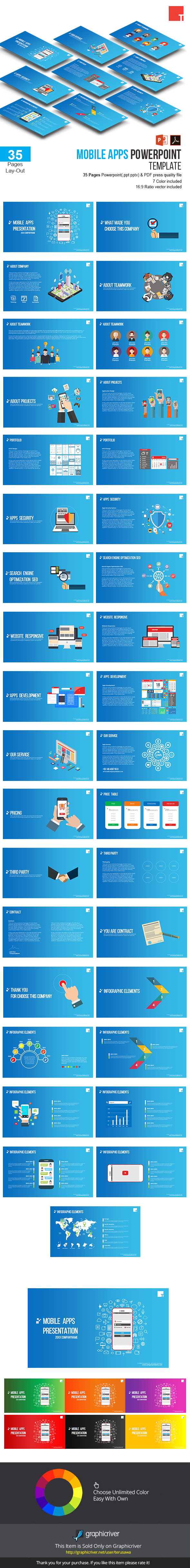 GraphicRiver Mobile Apps Powerpoint Template 20387969