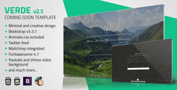 Verde - Minimal Coming Soon Template