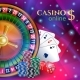 Casino Banner with Gambling Elements