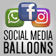 Social Media Balloons - VideoHive Item for Sale