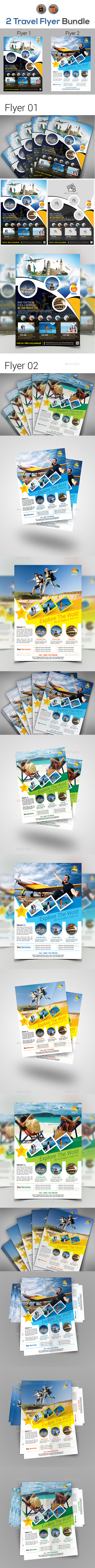 GraphicRiver Travel & Tourism Flyer Bundle 20388157