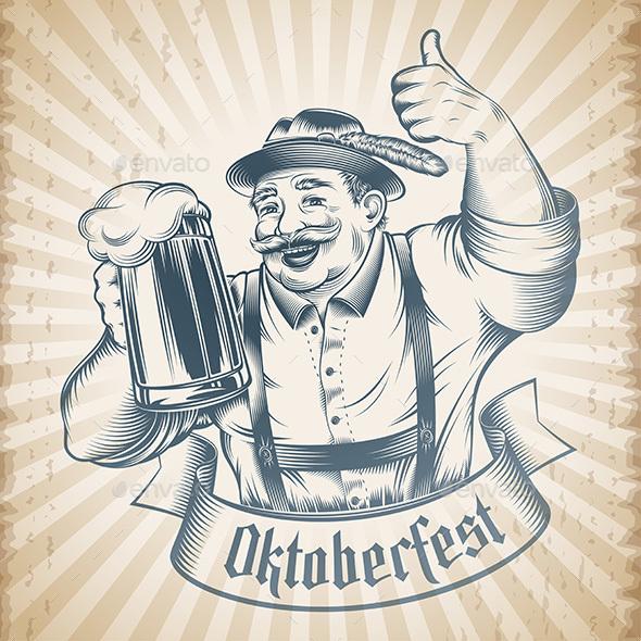 Oktoberfest Beer Holiday Man - People Characters